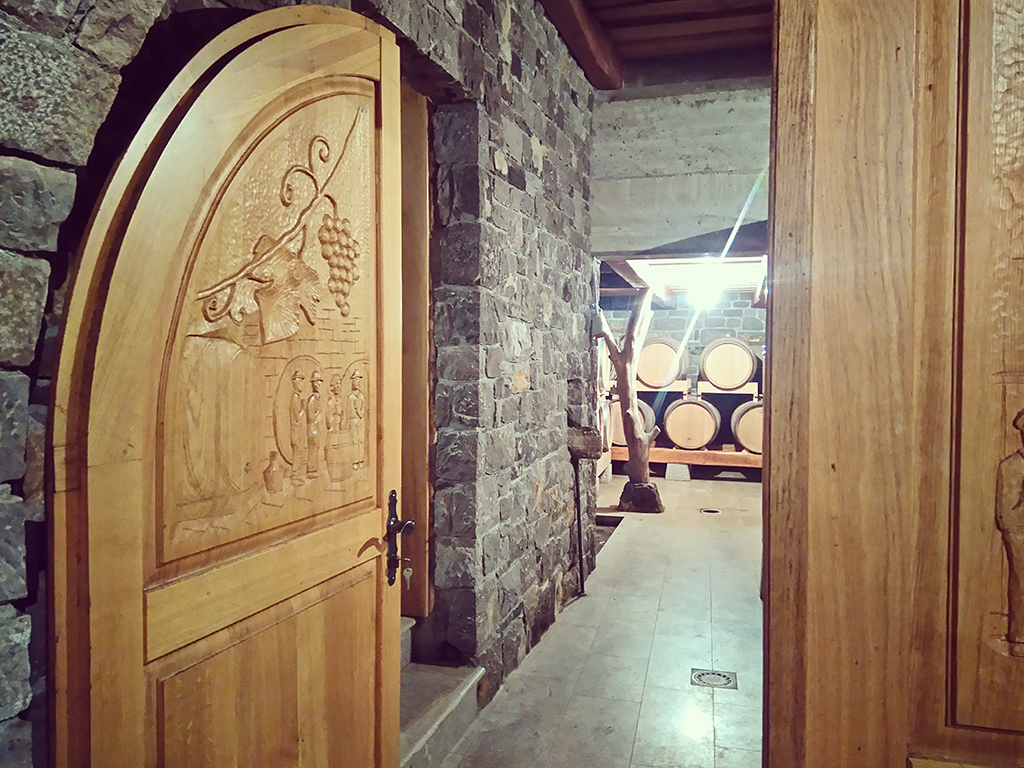 A wine tasting, visits to vineyards and a wine cellar